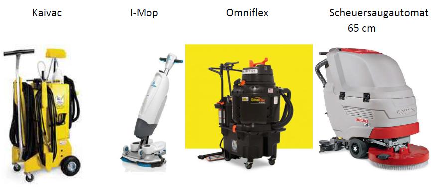 Reinigungsautomaten und Reinigungsmaschinen.